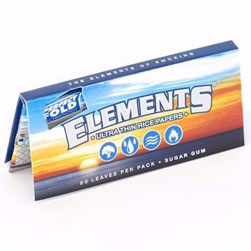 ELEMENT'S 1 1/4 SIZE PERFECT FOLD ULTRA THIN RICE ROLLING PAPERS