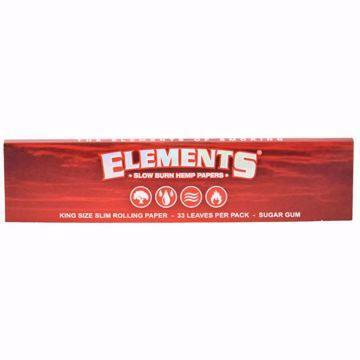 ELEMENT'S RED KING SIZE SLIM SLOW BURN HEMP PAPERS