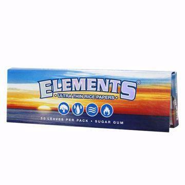 Elements Single Wide Single Window Ultra Thin Rice Rolling Papers
