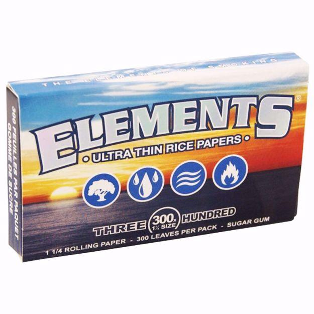ELEMENT'S 1 1/4 SIZE 300's ULTRA THIN RICE ROLLING PAPERS