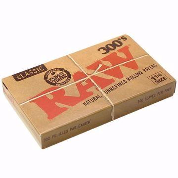 RAW CLASSIC 1 1/4 SIZE 300's NATURAL UNREFINED ROLLING PAPERS