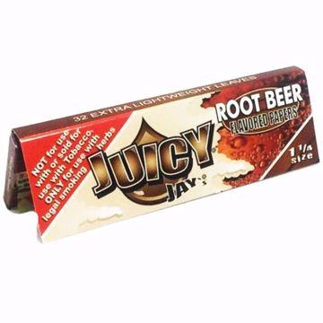 JUICY JAY'S 1 1/4 SIZE ROOT BEER FLAVORED ROLLING PAPERS