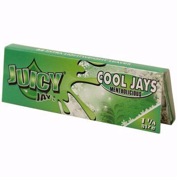 JUICY JAY'S 1 1/4 SIZE COOL JAYS MENTHOL FLAVORED ROLLING PAPERS