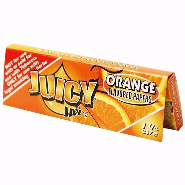 JUICY JAY'S 1 1/4 SIZE ORANGE FLAVORED ROLLING PAPERS