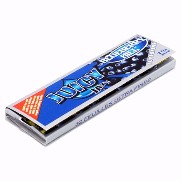 JUICY JAY'S SUPERFINE 1 1/4 SIZE BLUEBERRY HILL FLAVORED ROLLING PAPERS
