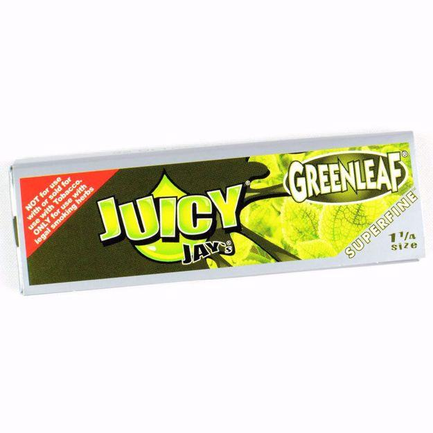 JUICY JAY'S SUPERFINE 1 1/4 SIZE GREENLEAF FLAVORED ROLLING PAPERS