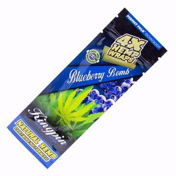 KINGPIN BLUEBERRY BOMB HEMP WRAPS 4X