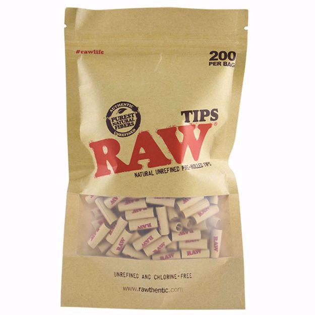 RAW ROLLING TIPS PRE-ROLLED 200/BAG