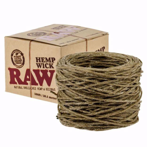 RAW HEMP WICK 100 FEET