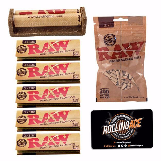 RAW CLASSIC 1 1/4 SIZE ESSENTIALS STARTER BUNDLE WITH FILTERS
