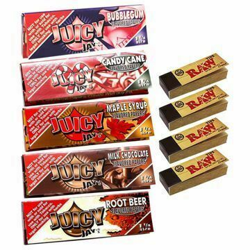 JUICY JAY'S 1 1/4 SIZE SWEET TOOTH SAMPLER BUNDLE WITH TIPS
