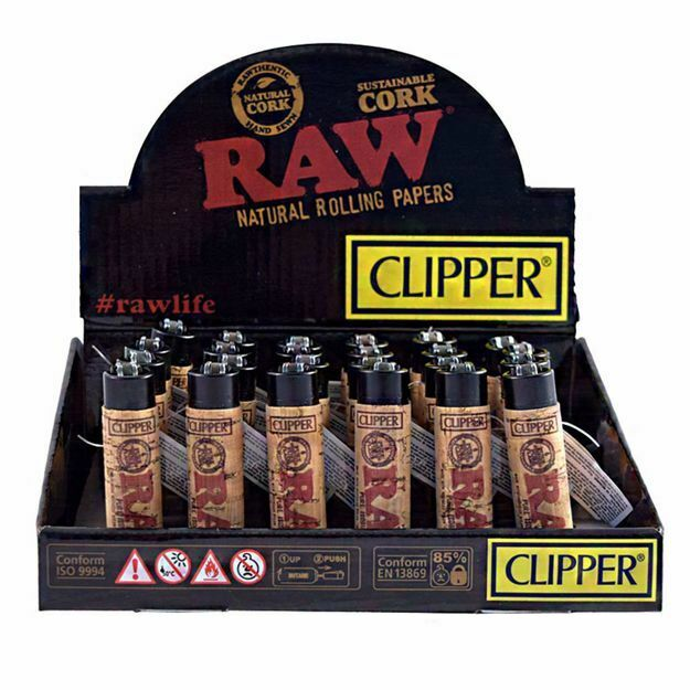 CLIPPER REFILLABLE LIGHTER - RAW POP COVER CORK