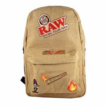 RAW BURLAP SMELL PROOF BAG STYLE 1