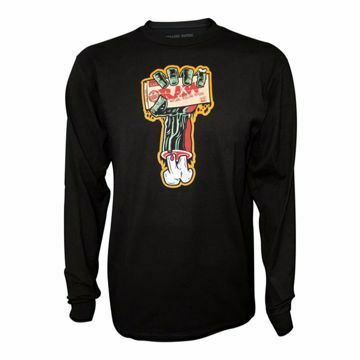 RAW ZOMBIE ARM MEN'S BLACK LONG SLEEVE T-SHIRT