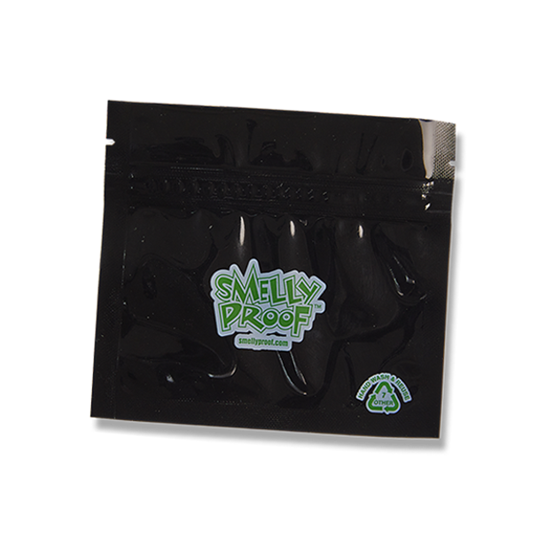 SMELLY PROOF X-SMALL BLACK STORAGE BAGS