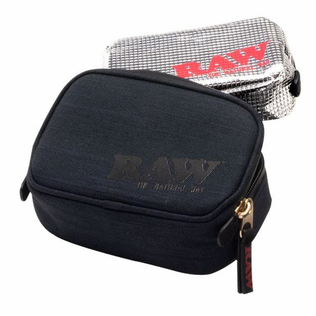 RAW SMELL PROOF SMOKERS POUCH V.2 SMALL