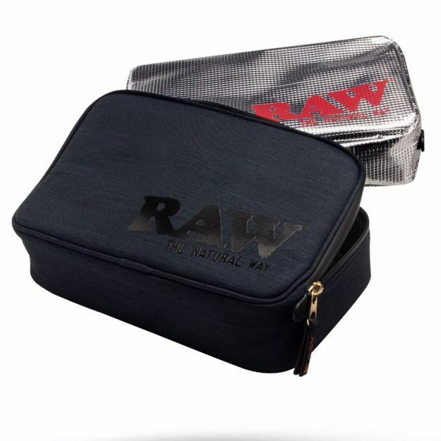 RAW SMELL PROOF SMOKERS POUCH V.2 MEDIUM