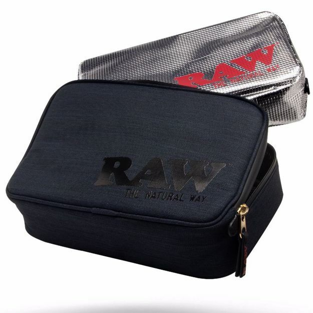 RAW SMELL PROOF SMOKERS POUCH V.2 LARGE