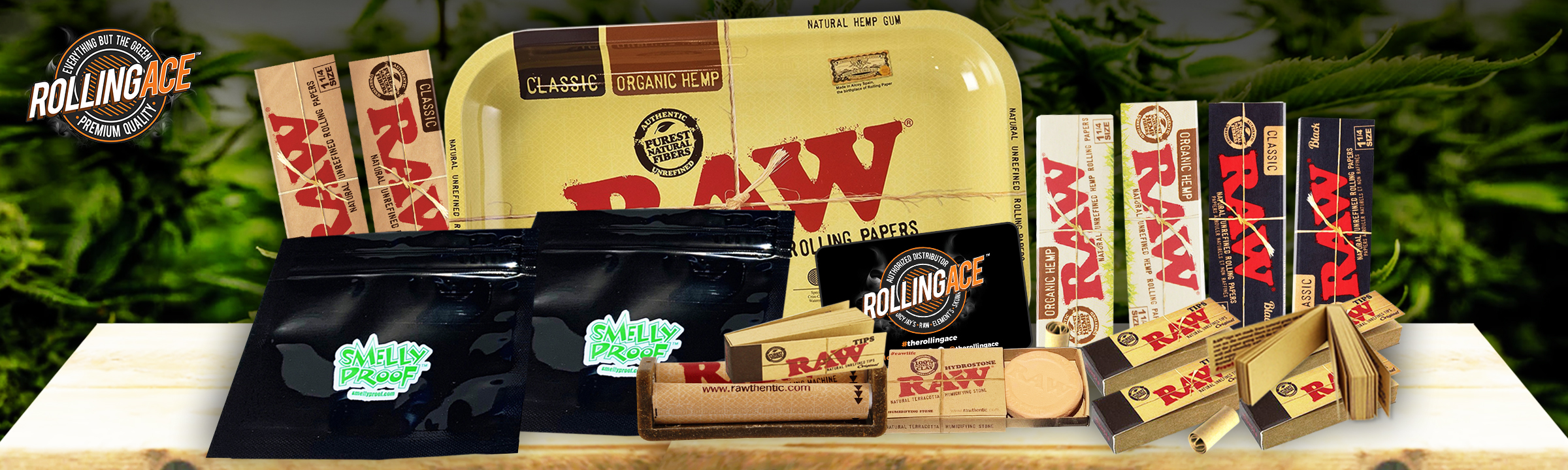 Raw 1 1/4 Taster Rolling Papers Starter Bundle