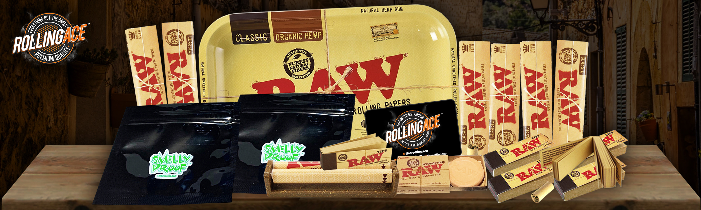 Raw King Size Classic Bundle with Tray