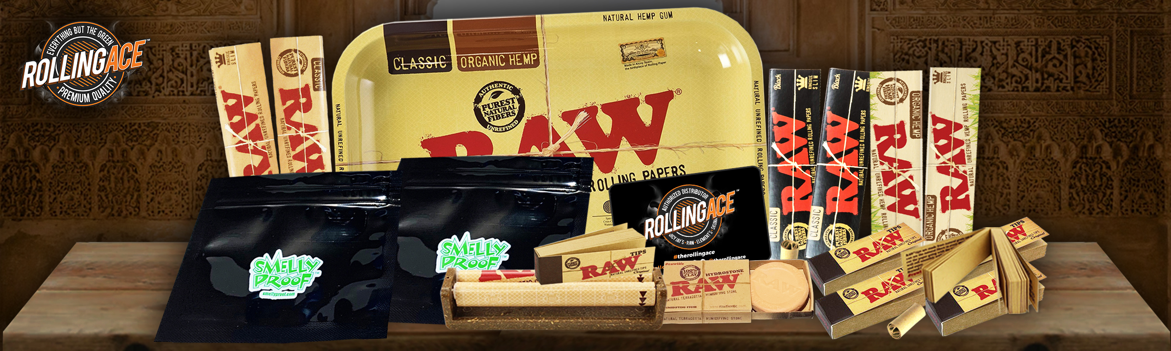 Raw King Size Taster Bundle with Tray