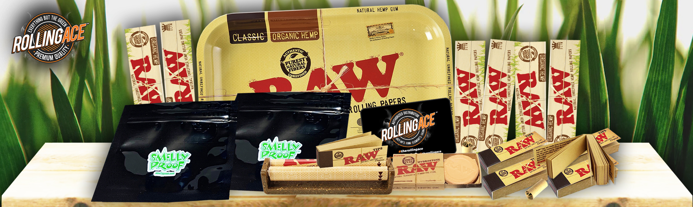 Raw King Size Organic Bundle with Tray